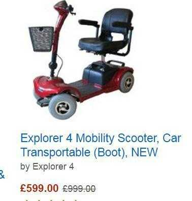 "Explorer 4 mobility scooter ""Could deliver within"