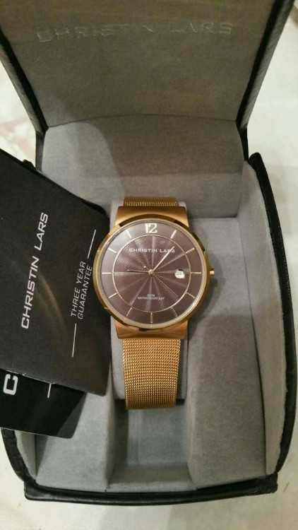 MEN'S CHRISTIN LARS WATCH NEW