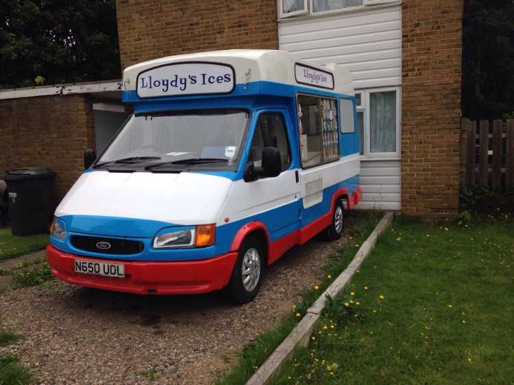 1995 ford transit ice cream van