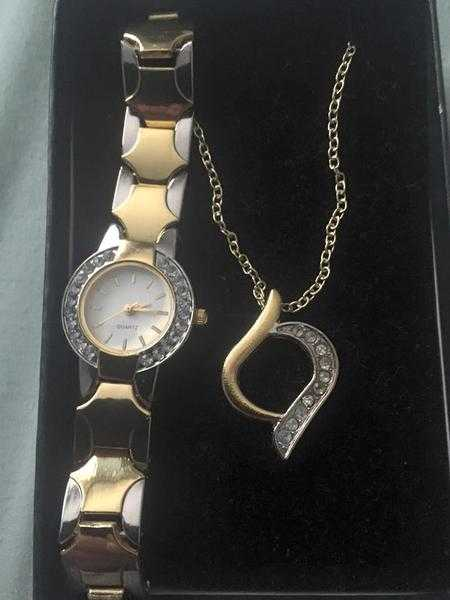 ladies watch and chain