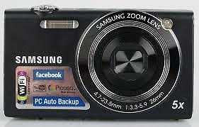 Samsung SH100 Digital Touchscreen Camera - Black -