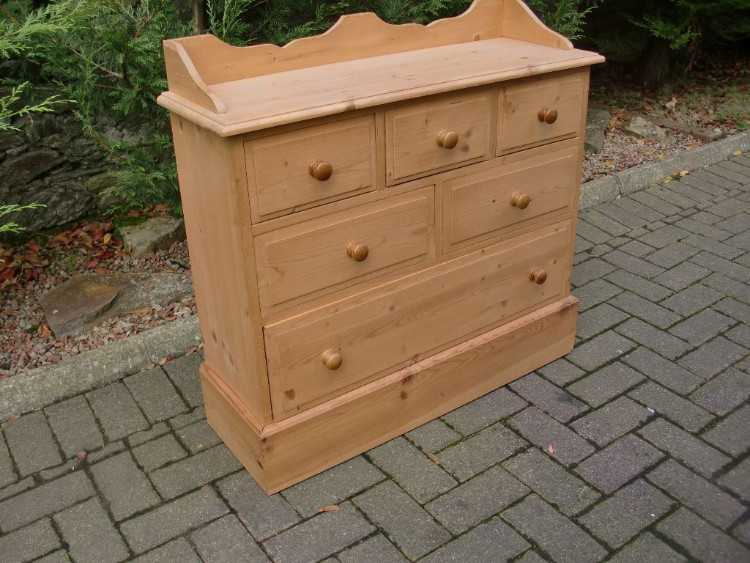 Natural Waxed Pine 6 Drawer Unit