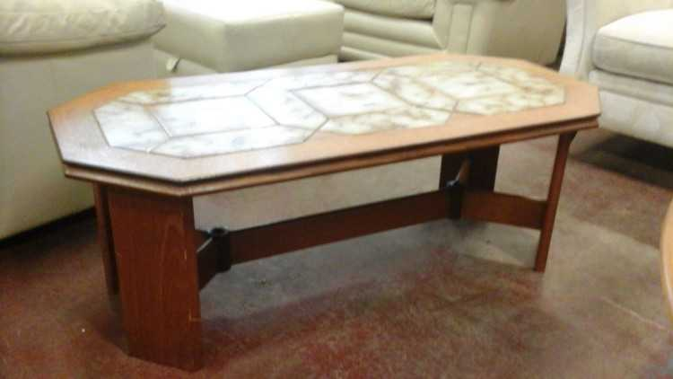 Coffee table with tiled surface