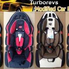 brown kids car seat
