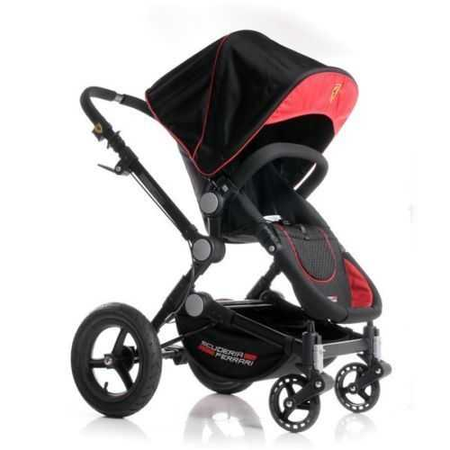 Ferrari Black BeeBop Pushchair & Pram Set New