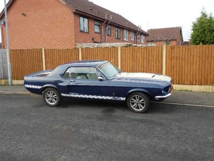 Classic 1968 Ford Mustang Shelby tribute coupe