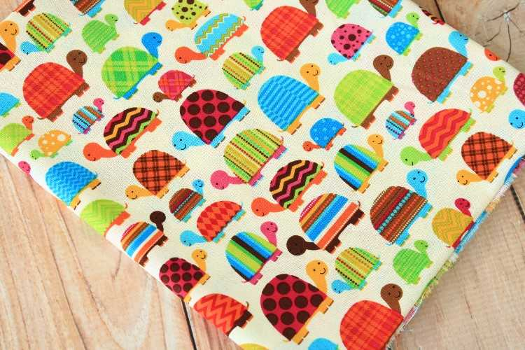 TORTOISE Cotton Fabric Craft Sewing Material