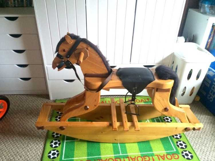 *** Custom Built Rocking Horse*** Solid Wood suit