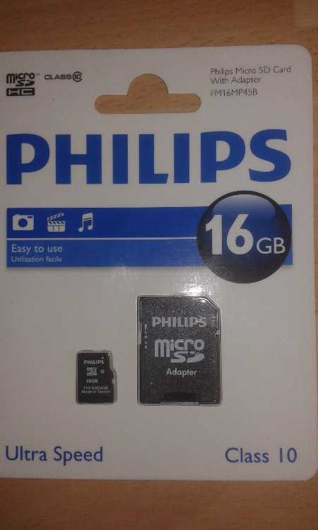 philips 16gb micro sd card with adapter