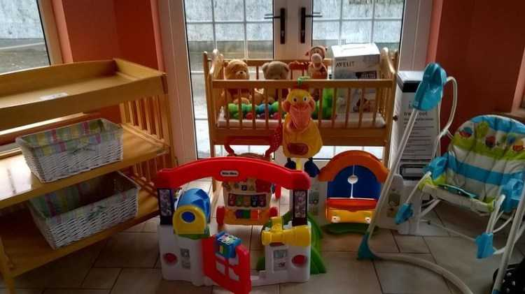 Baby cradle, changer, swing & nursery toys
