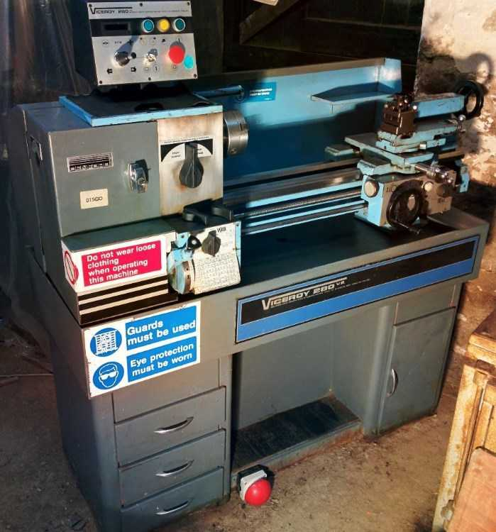 Viceroy 280VS Metal Lathe. Electronic Speed Contro